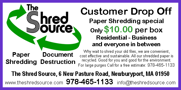 paper shredding document destruction special offer at at The Shred Source in Newburyport, MA